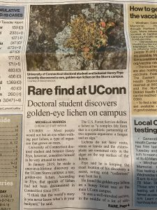 Front page article in the Chronicle